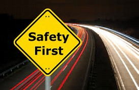 Driver Saftey First Sign